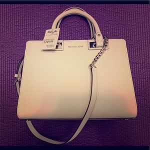 Brand New White Michael Kors Leather Shoulder Bag
